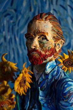Vincent Van Gogh by Valentin Falconi Vincent Van Gogh, Arte Van Gogh, Van Gogh Art, Art Van, Van Gogh Tapete, Van Gogh Wallpaper, Van Gogh Pinturas, Art Visionnaire, Psy Art