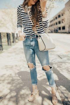 Embellished & Striped