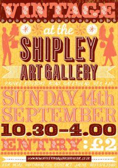 VINTAGE AT THE SHIPLEY ART GALLERY via http://www.newcastlevintagefashionfair.co.uk/