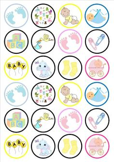 toppers gratis baby shower - Buscar con Google