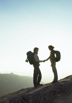 Hiking together - what good is all the beauty in the world if you have no one to share it with?