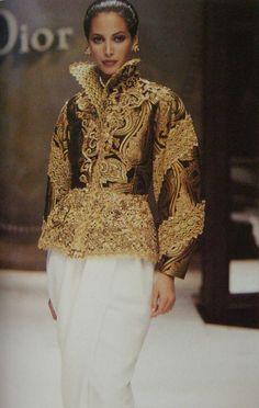 Christy Turlington for Christian Dior, designed by Gianfranco Ferre, 1993                                                                                                                                                                                 More