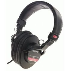 Sony MDR-V6 Monitor Series Headphones with CCAW Voice Coil (Electronics)  http://www.amazon.com/dp/B00001WRSJ/?tag=goandtalk-20  B00001WRSJ