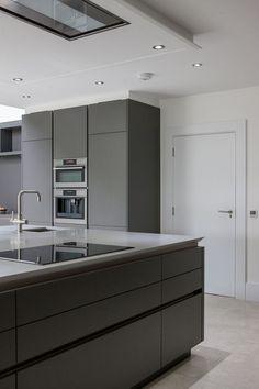Warm Grey Corian®, designed by Uber Kitchens