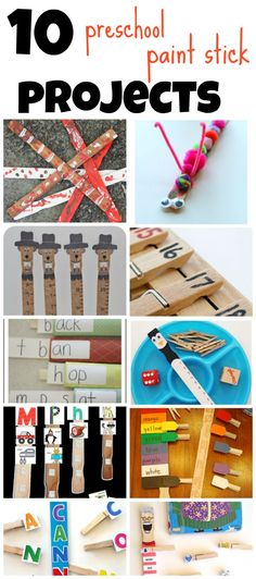 10 Paint Stick Projects for Preschoolers by Munchkins and Moms