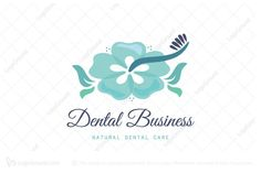 Dental Training, Dental Clinic Logo, Implant Dentistry, Dental Laboratory, Flower Logo, Elegant Logo, Mouthwash, Dental Care, Natural