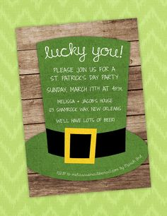 printable st patricks day invite pinterest party invitations saints and free