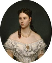 Princess Louise of Sweden married Crown Prince Frederick of Denmark on 28 July in Stockholm, Sweden. The couple had eight children. Danish Royalty, Swedish Royalty, Princess Louise, Prince And Princess, Real Princess, European History, Art History, Franz Xaver Winterhalter, Christian Ix