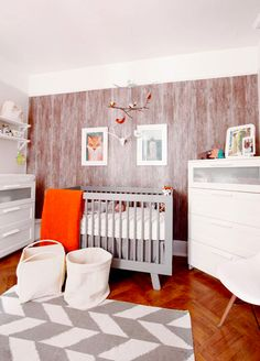 Rustic nursery with chevron