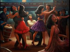 artist rising (division of art.com inc)  A night of Salsa Dancing in the South Bronx.  by Enesto's Gallery