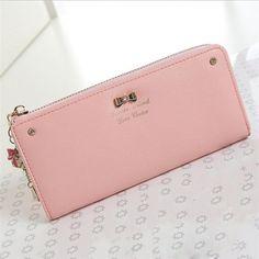 2016 Women Fashion Lady s Wallet Coin Purse Clutch Zipper Leather Long  Handbag Top Quality Free Shipping 7a3a15a0f6b