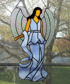 Stained Glass Angels | Stained Glass Panel Angel