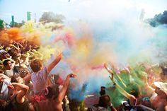 The Infamous Paint Fight - The Secret Garden Party 2012