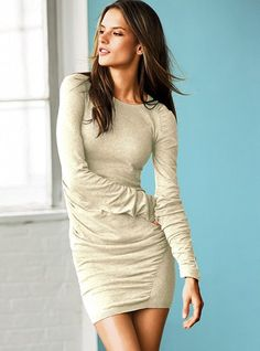 Ruched Cotton Sweaterdress #VictoriasSecret http://www.victoriassecret.com/clothing/holiday-dresses/ruched-cotton-sweaterdress?ProductID=84577=OLS?cm_mmc=pinterest-_-product-_-x-_-x