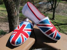 READ DESCRIPTION – British Flag TOMS – Not Including Shoes