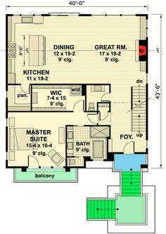 Plan 14633RK: Master-On-Main Modern House Plan