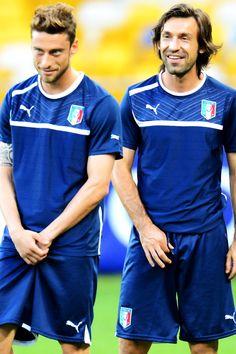 Claudio Marchisio & Andrea Pirlo, Italy.