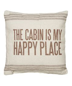 'Happy Place' Throw Pillow
