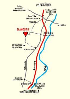 Situation géographique appellation Saint-Amour (Beaujolais) Line Chart, Tourism, Wine