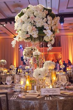 Crystals And Submerged Roses Wedding Reception Decorations Centrepieces