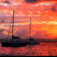 Sunset. Cruz Bay, St. John USVI