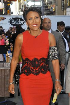 PICC Cover Fashions - Robin Roberts wearing armband to cover chemotherapy picc line. Shown in 'Black Lace' PICC Cover Fashions TM by CastCoverFashions.com