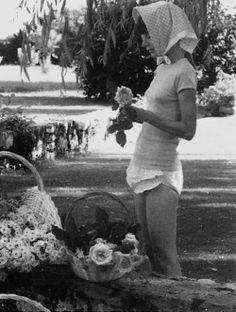 Audrey Hepburn at home, La Paisable - Switzerland