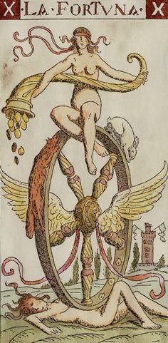 The Wheel of Fortune from the Master Tarot/Tarocchi del Maestro/Tarot of the Master