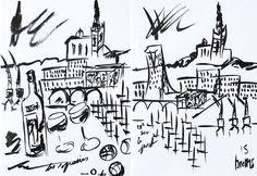 #peintre #illustration Sandrine Brems à #marseille ! Focus #2 : Ma sélection de #createurs Made in Marseille - #decoration #ceramiste, graphiste, ébéniste, #designer #madeinmarseille #madeinfrance