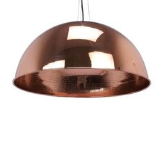 A wide modern dome pendant lamp. Available in Black-copper, black-silver bright copper and white-copper, and white-silver Diameter cm)- Height cm). Rustic Feel, Modern Rustic, Ceiling Canopy, Ceiling Lights, Pendant Lamp, Pendant Lighting, Black Pendant Light, Copper, Brass