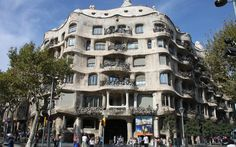 Casa Mila or La Pedrera, on the Passeig de Gracia, designed by Antoni Gaudi. SCROLL DOWN FOR SOME DETAILS  Photographer: Rick Ligthelm for TravelMag.com   if you want to use this photo free of charge, please link to www.travelmag.com