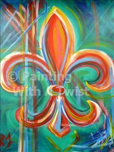 Candy Fleur de Lis - Metairie Painting Class - Corks N Canvas - Corks N Canvas