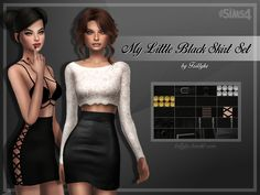 Every girl needs a little black dress, we know that. But what about a little black skirt? You don't have to search for the perfect one anymore, you most certainly find it in this set!  Found in TSR...