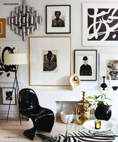 I love the combination of black and white with brown adding some visual pop the color scheme