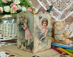 """Купить карандашница """"Дети-цветы жизни"""" - Декупаж, декупаж работы, подарок, карандашница, карандашница декупаж"""