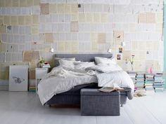 Nyhet! ÅRVIKSAND madrass och sänggavel har en matchande förvaringsbox, FJÄRA.