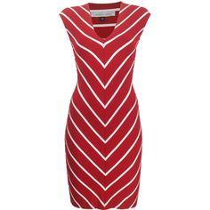 Nadia Tarr Capped Mini Pencil Dress ($350) ❤ liked on Polyvore