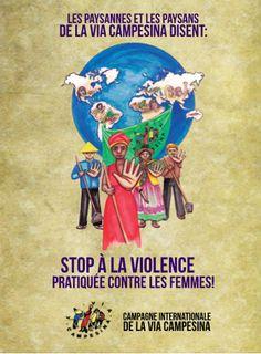 """La Via Campesina dit """"Pas une de moins : Mettons fin à la violence contre les femmes"""""""