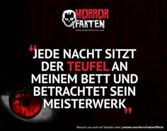 Horror Fakten ❝I got the Devil on my Shoooulderr oder halt an meinem Bett❞ Funny Facts, Funny Quotes, Paranormal, Funny Horror, Some Quotes, Writing Prompts, Devil, Texts, Poems