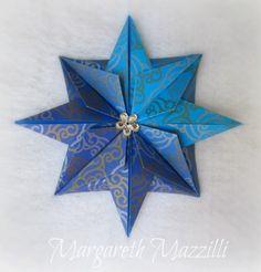 ✧ Christmas Star ✧  . Designed: Dr. James Sakoda . Instruções de dobra (tutorial): https://www.youtube.com/watch?v=v8GiFCyEc0I . Dobrado por: Margareth Mazzilli  Outubro/2014