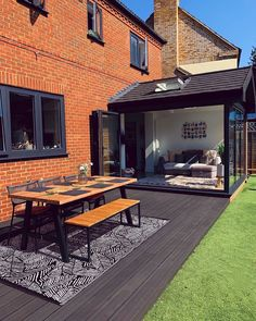 I reckon I've got another week tops of getting the garden furniture out, so you better believe I'm going to milk the hell out of it. Ideal Home, House Design, Home Garden Design, House Exterior, House Styles, Exterior Design, Garden Furniture, House Extension Design, Back Garden Design