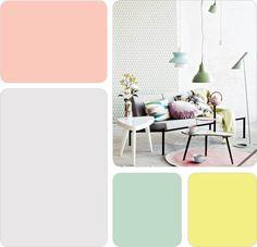 Mid century colour or color palette by Duck Egg Blue - Pretty Pastel