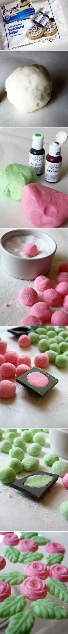 Cream Cheese Mints - oh wow - I remember my aunt making these when I was a kid!
