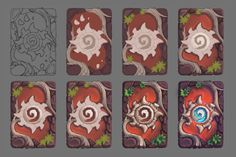 ArtStation - Hearthstone Sea of Dunes card back, Charlène Le Scanff (AKA Catell-Ruz) Ui Design Tutorial, Design Tutorials, Art Tutorials, Dune, I Love Games, Anime Weapons, Digital Art Tutorial, Joshua Tree National Park, Ui Design Inspiration