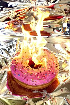 Junk food on fire: new photo series by Henry Hargreaves