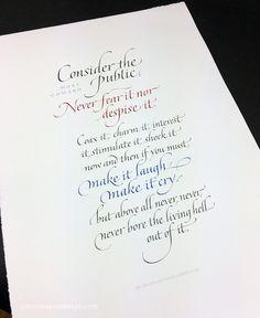 John Stevens #calligraphy #italic NoelCowardx.jpg (972×1189)