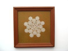 Vintage Tatted Lace Doily Circles on Dark Ochre by AstrasShadow