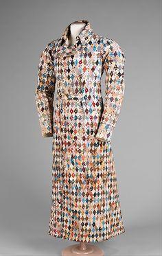 Dressing gown  Date:     ca. 1825 Culture:     British Medium:     cotton Dimensions:     Length at CB: 55 in. (139.7 cm) Credit Line:     B...