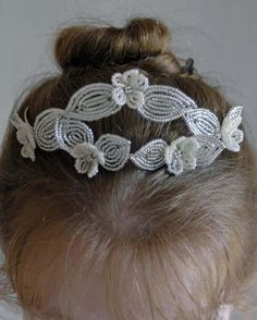 Beaded floral tiara from Bead Flowers UK