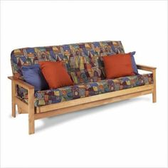 """Albany Futon Set Mattress Type: 8"""" Euro Coil by Gold Bond. $562.99. b1lafn - Mattress #108 Mattress Type: 8"""" Euro Coil Includes Futon Frame and Mattress Only Need space without sacrificing comfort? No problem, with the Albany Traditional Futon Set. From Gold Bond, the originators of futon comfort, this naturally finished wood futon rack provides excellent support and durability. With 3 different comfortable mattresses to chose from you can be sure to find the combin..."""